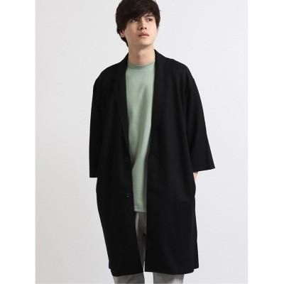 【タカキュー】 接触冷感7分袖BIGカットジャケット メンズ ブラック L TAKA-Q