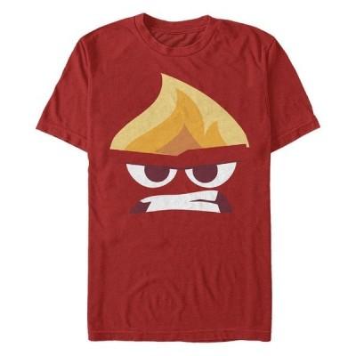 フィフスサン Tシャツ トップス メンズ Men's Angry Face Short Sleeve Crew T-shirt Red