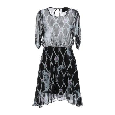 PHILIPP PLEIN ミニワンピース&ドレス ブラック S シルク 100% ミニワンピース&ドレス