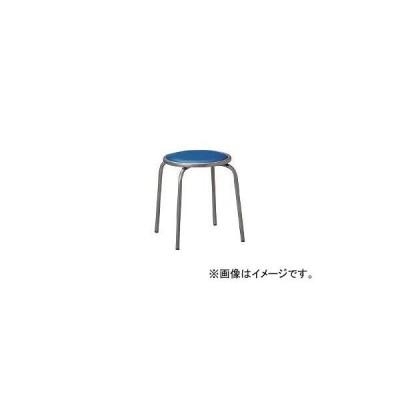 アイコ/AIKO 丸イス スチールパイプ ビニールレザー ブルー RC60V3BU(3201759) JAN:4514974438319