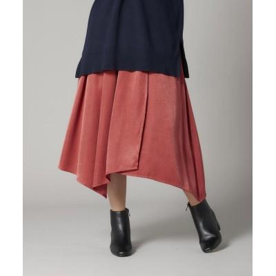 【ミューズ リファインド クローズ】 アシンメトリーフレアスカート レディース アカ M MEW'S REFINED CLOTHES