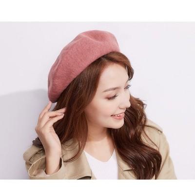 ベレー帽 帽子 ハットレディース ハンチング帽 親子ペア お揃い ピンク