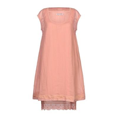 EUROPEAN CULTURE ミニワンピース&ドレス サーモンピンク L コットン 54% / レーヨン 45% / ポリウレタン® 1% ミニ