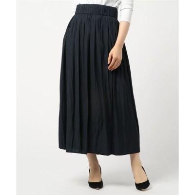 スカート ウエストゴムボリュームロングスカート