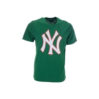 47ブランド Tシャツ トップス メンズ Men's New York Yankees Heritage Club T-Shirt Green/White/Red