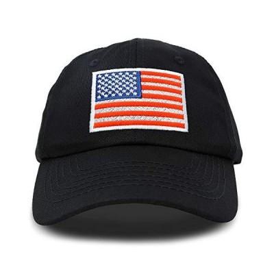 DALIX アメリカ国旗帽子 プレミアム USA ベースボールキャップ US サイズ: Adjustable カラー: ブラック