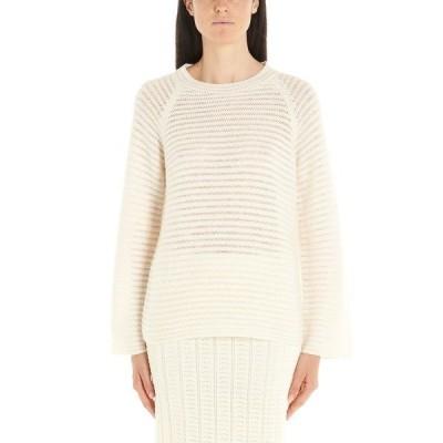 セオリー レディース ニット&セーター アウター Theory Jacquard Striped Crewneck Sweatshirt -