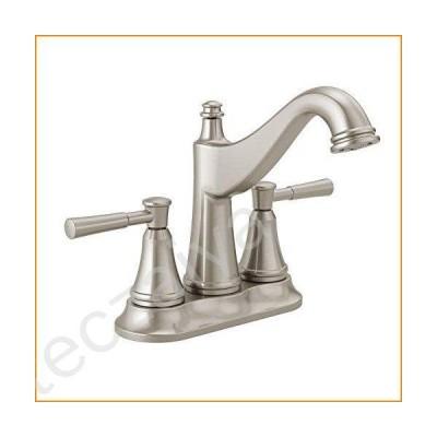 蛇口 Delta Faucet Mylan Centerset Bathroom Faucet Brushed Nickel, Bathroom Sink Faucet, Drain Assembly, Worry-Free Drain Catch, SpotShield