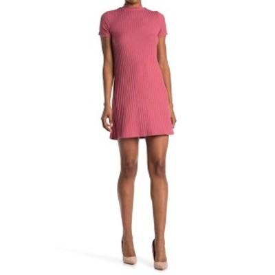 ケネディク レディース ワンピース トップス Ribbed Knit Mock Neck T-Shirt Dress MAUVE