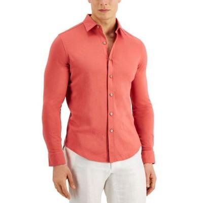 タッソエルバ メンズ シャツ トップス Pique Knit Woven Shirt