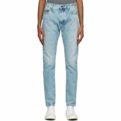 パーム エンジェルス Palm Angels メンズ ジーンズ・デニム ボトムス・パンツ Blue Back Logo Jeans Light blue/White