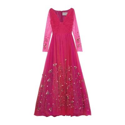 CAROLINA HERRERA ロングワンピース&ドレス フューシャ 4 ナイロン 100% ロングワンピース&ドレス