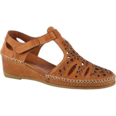 スプリングステップ Spring Step レディース サンダル・ミュール アンクルストラップ シューズ・靴 Irin Ankle Strap Closed Toe Sandal Brown Leather