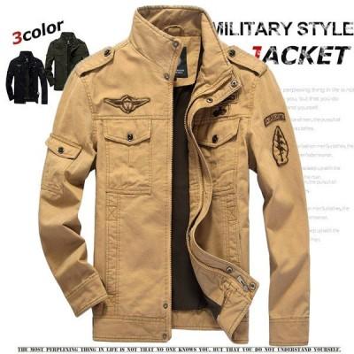 ジャケット メンズ ミリタリージャケット アウター 空軍 お兄系 刺繍 フライトジャケット欧米風 綿 アウトドア