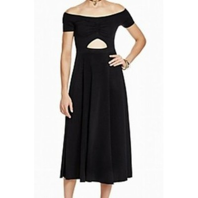 Free People フリーピープル ファッション ドレス Free People Womens Dress Black Size XS Sheath Cutout Off-Shoulder