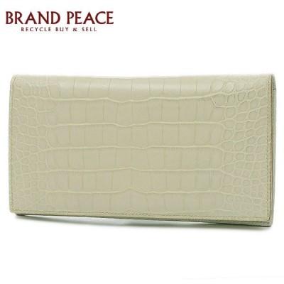 エルメス MC2 フレミング 二つ折り札入れ 長財布 クロコアリゲーターマット ベトン D刻印 送料無料 ブランドピース
