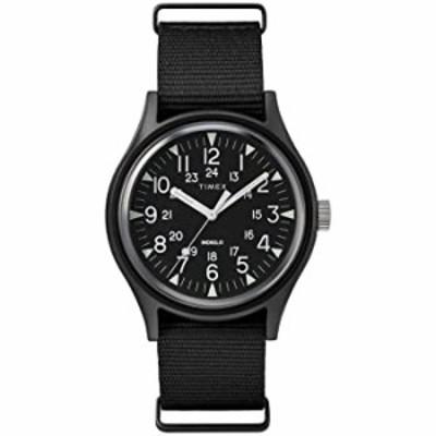 Timex Men's MK1 Aluminum 40mm Watch ? Black with Fabric Slip-Thru Strap