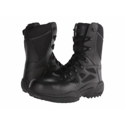 Reebok Work リーボック メンズ 男性用 シューズ 靴 ブーツ ワークブーツ Rapid Response RB 8 Soft Toe Black【送料無料】