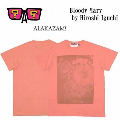 半額セール ALAKAZAM アラカザム Tシャツ 半袖 グラフィックBloody Mary by Hiroshi Iguchi/PINK 再入荷