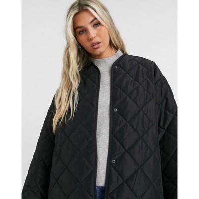 アンドアザーストーリーズ レディース ジャケット・ブルゾン アウター & Other Stories recycled polyester quilted jacket in black