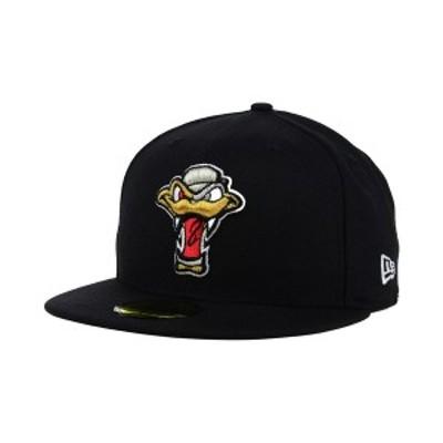 ニューエラ メンズ 帽子 アクセサリー Wisconsin Timber Rattlers 59FIFTY Cap Black