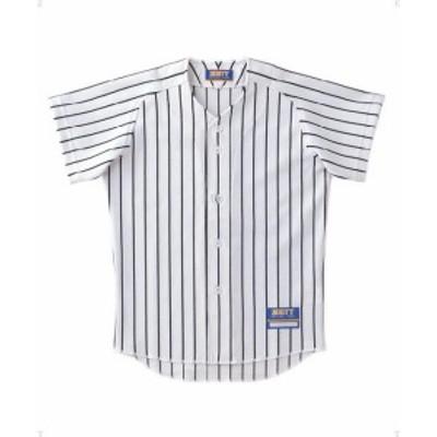 ゼット 野球 ソフト ジュニアユニフォームストライプメッシュシャツBU521J 16SS ホワイト/ブラツク ヤキュウユニホーム(bu521j-1119)