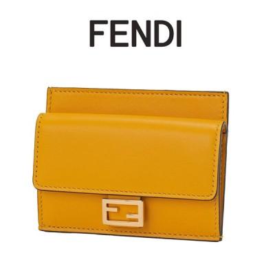 フェンディ FENDI ミニ財布 バゲット カードケース イエロー 8M0423-AAJD-F192E