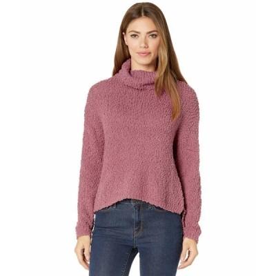 ボベー ニット&セーター アウター レディース Cowl Neck Boucle Pullover Sweater Mauve