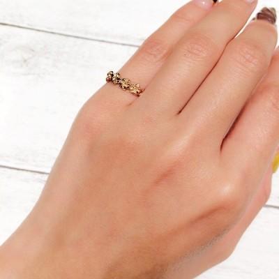 【14Kプルメリアレイリング(Pink Gold)】 ハワイアンジュエリー 指輪 ピンクゴールド ピンキーリング K14