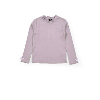 プチ フリル ネック ハリヌキ スムース Tシャツ(90~150cm)