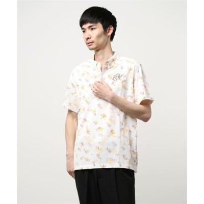 ポロシャツ 《ZOY》WOMENS 飛び柄アロハプリント ミニ半袖ポロシャツ