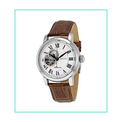 【新品】セイコー シルバーダイヤル ブラウンレザー 自動巻き メンズ腕時計 SSA231(並行輸入品)