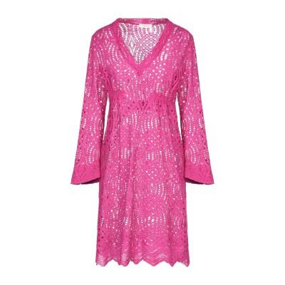 MAESTA ミニワンピース&ドレス ガーネット 42 ナイロン 53% / コットン 47% ミニワンピース&ドレス