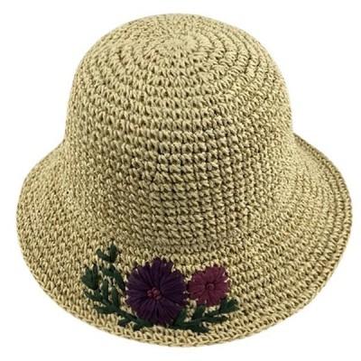 レディース夏帽子夏物つば広UVUVカットuv対策麦わら大きいサイズ折りたたみ
