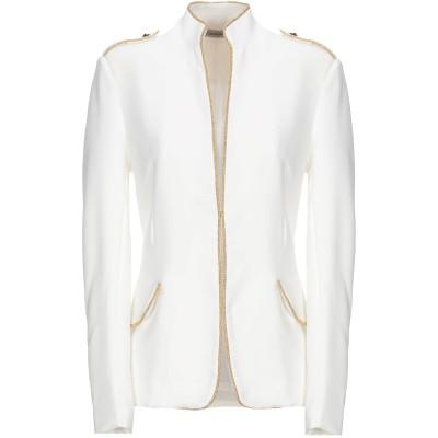 PAOLO CASALINI テーラードジャケット ホワイト S ポリエステル 89% / ポリウレタン 11% テーラードジャケット