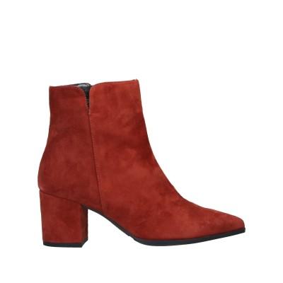 パオラフェリー PAOLA FERRI ショートブーツ 赤茶色 35 羊革(シープスキン) ショートブーツ