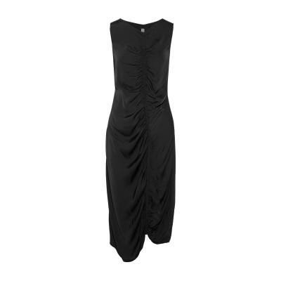 ラクエル・アレグラ RAQUEL ALLEGRA 7分丈ワンピース・ドレス ブラック 1 レーヨン 54% / コットン 46% 7分丈ワンピース・