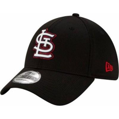ニューエラ メンズ 帽子 アクセサリー New Era Men's St. Louis Cardinals Black 39Thirty Clubhouse Stretch Fit Hat