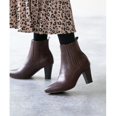 welleg from outletshoes / 8cmヒール ポインテッドトゥ サイドゴア ショートブーツ WOMEN シューズ > ブーツ