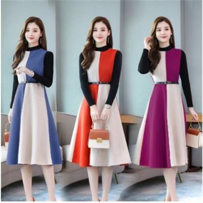 大きいサイズ レディース  ワンビース 秋冬 新品 袖なし ワンビース 合わせやすい ドレス 大人の魅力高まる 腰止めひも スリム 袖なしドレス