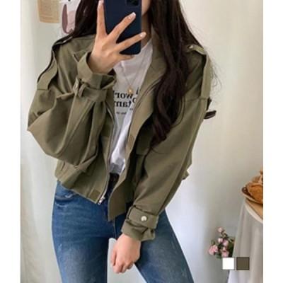 gifteabox レディース ジャケット Strap cargo field short jacket