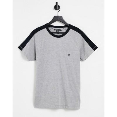 フレンチコネクション French Connection メンズ Tシャツ トップス panel t-shirt in light grey グレー