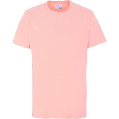 カラフルスタンダード COLORFUL STANDARD メンズ Tシャツ トップス T-Shirt Salmon pink
