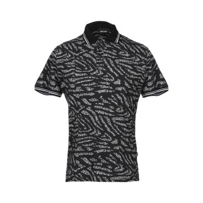 ジャストカヴァリ JUST CAVALLI ポロシャツ ブラック S コットン 100% / ポリエステル ポロシャツ