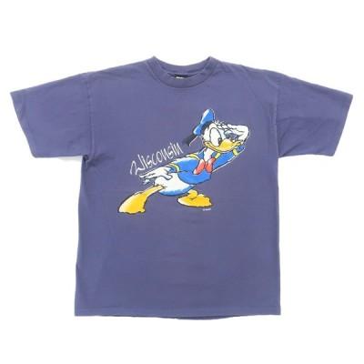 オールド ディズニー キャラ プリント Tシャツ ドナルドダック サイズ表記:--