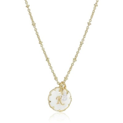 Lonna & Lilly Gold Tone Initial Pendant Necklace, K