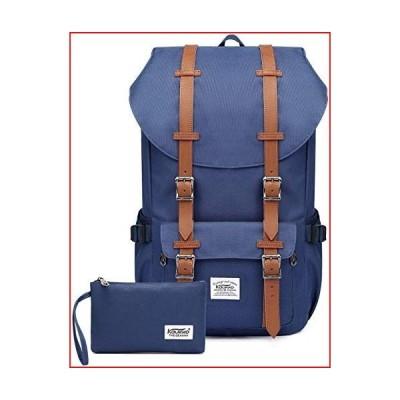 "Travel Laptop Backpack, Outdoor Rucksack, School backpack Fits 15.6""(Nylon Blue2pc)【並行輸入品】"