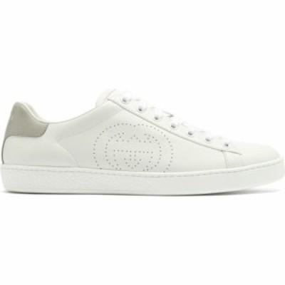 グッチ Gucci レディース スニーカー シューズ・靴 Ace perforated logo leather trainers White