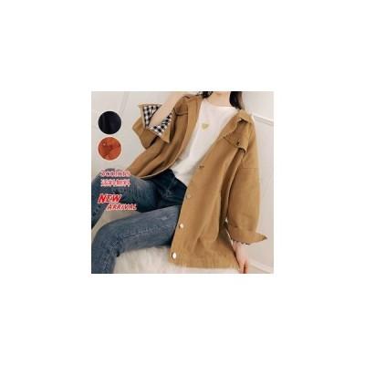 レディースジャケット ロングコート 長袖 無地 ゆったり 大きいサイズ シンプル カジュアル きれいめ アウター 春物 春秋 おしゃれ
