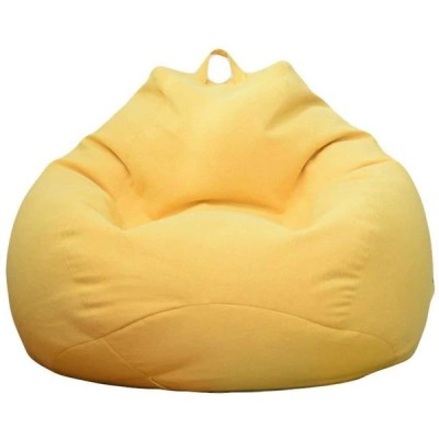 ビーズクッション 特大 ソファー 座布団 座椅子 人をダメにするソファ 無地 疲労を軽減 洗えるカバー 90*110cm (イエロー)